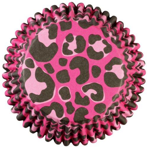 Wilton 415-0749  Pink Leopard Cuisson Tasse 36 Count