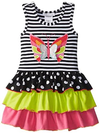 Bonnie Jean Little Girls' Stripe To Multi Skirt, Black/White, 4