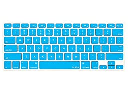 Kuzy - AQUA BLUE Keyboard Cover Silicone Skin for MacBook Pro 13\
