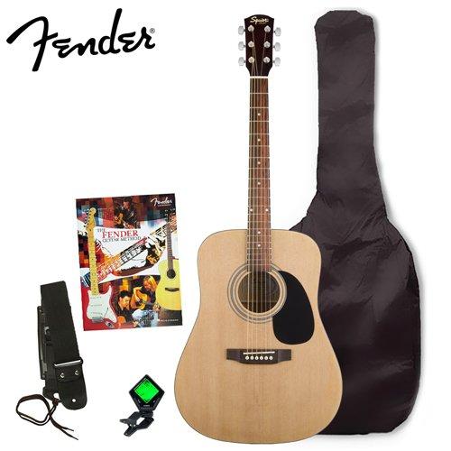 electric guitar kits fender sa 100 upgrade acoustic guitar pack natural. Black Bedroom Furniture Sets. Home Design Ideas
