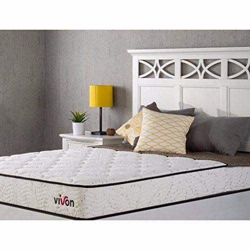 Best Prices! Vivon iCoil 8 Inch Spring & Foam Hybrid Mattress, Queen