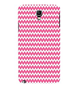 Pink Chevron Design 3D Hard Polycarbonate Designer Back Case Cover for Samsung Galaxy Note 3 Neo N7505