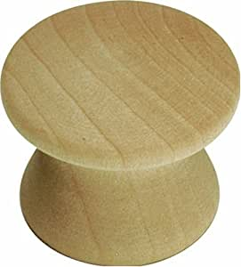 Hickory Hardware P183-UW 1-Inch Natural Woodcraft Knob, Unfinished Wood