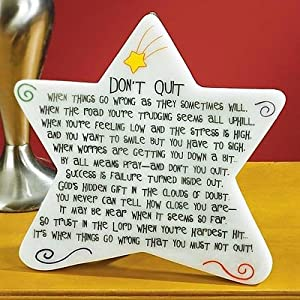 Abbey Press Don't Quit Marble Plaque - Inspiration Faith Blessing Spirit 09187-ABBEY