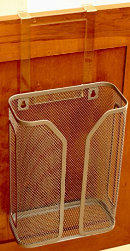 Decobros Over The Cabinet Door Bag Holder Silver Hardware