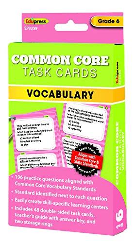 Common Core Vocabulary Task Cards Grade 6 - 1