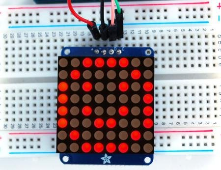 """1.2"""" 8X8 Red Led Matrix With I2C Backpack"""
