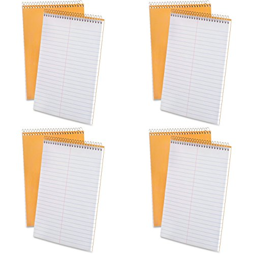 Ampad 25-472R Spiral Steno Book, Gregg Rule, 6x9-Inches, White, 70 Sheets, 4 Packs of 2