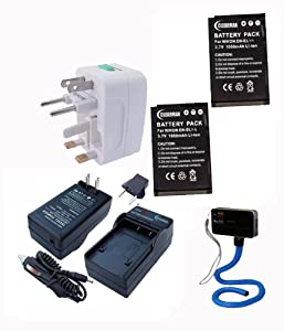 ClearMax Best Performance Nikon Coolpix P7000, EN-EL14 Lithium-Ion Battery Pack.. Charger, European Plug Adapter, World Travel Adapter and Flexible Monopod