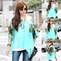 Lookatool Women's Bohemia Floral Batwing Chiffon Loose T-Shirt Blouse Top