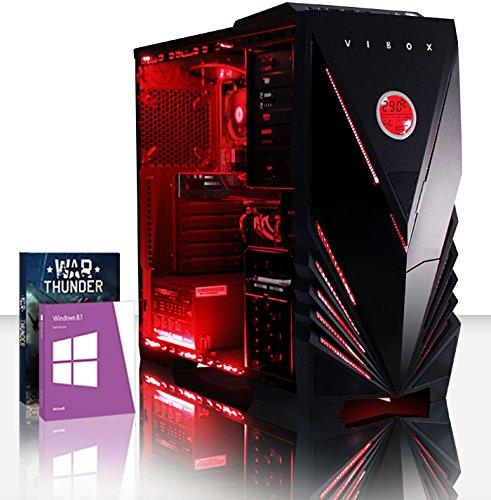 VIBOX Scope 68 - 3.9Ghz (4.0GHz Turbo) AMD Dual Core Desktop Gamer, Gaming PC Computer mit WarThunder Spiel Bundle, Windows 8.1 PLUS eine lebenslange Garantie inbegriffen* (Nvidia Geforce GT 730 2 GB Grafikkarte, 1TB Festplatte, 16 GB 1600MHz RAM, DVD-RW)