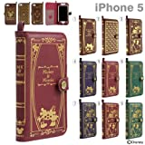 Disney Characters Old book iPhone 5/5S/5C Case(Alice in Wonderland /Burgundy)