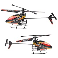 Wl Products - 4CH 2.4GHz Mini Radio Single Propeller RC Helicopter Gyro V911 RTF Red and Black - This 4CH 2.4GHz mini RC helicopter with pioneering single propeller, built-in Gyro, extremely light weight, strong resistance of impact, steady and agil by WL