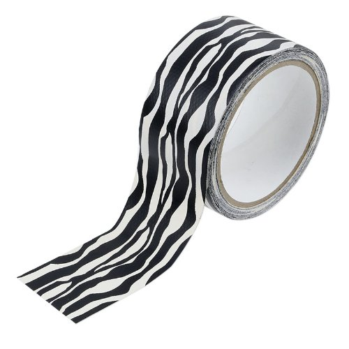 Black And White Zebra Print Duct Tape - 10 Yards