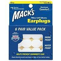 Macks Ear Plugs (Pack of 6) Value Pack 6-Pairs