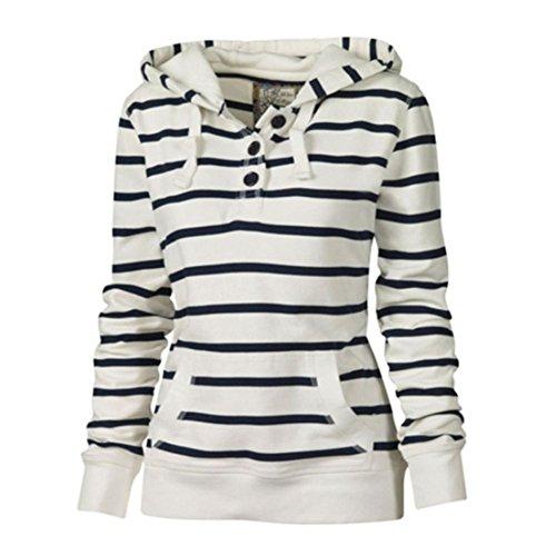 Hengzhi Women's Zebra Long Sleeve Funnel Neck Hoodies Pullover Cute Elegance Top
