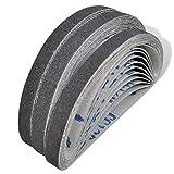 Schleifbänder Schleifband für Druckluft Bandschleifer, 30 Stück in Krönung 60, 80, 120