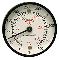 Winters TMT Series Steel Dual scale Surface Magnet Thermometer, 2\