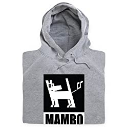Official Mambo Dog Black and White Hoodie, Mens