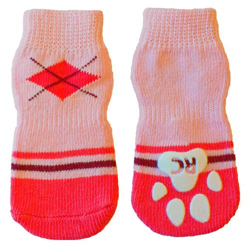 RC Pet Products Pawks Dog Socks, Small, Preppy Girl