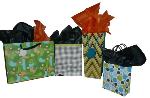 The Gift Wrap Company Bold Graphic Gift Bag & Tissue Set