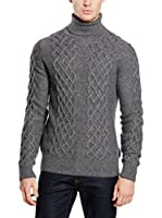 Hackett London Jersey Lana May Wo Cash Rl Nk (Gris Oscuro)