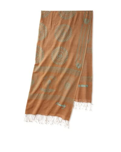 Sir Alistair Rai Women's Gayatri Mantra Humanity Inifinity Scarf, Camel, One Size