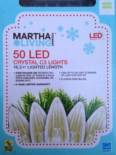 Martha Stewart Living Warm White Led C3 Crystal 50-Light Set