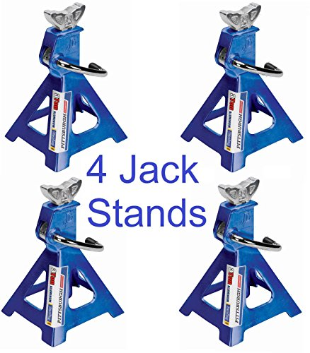 Set of 4 Three Ton Light Weight Aluminum Racing Jack Stands Sturdy With Self Locking Ratchet (Aluminum Truck Jack compare prices)