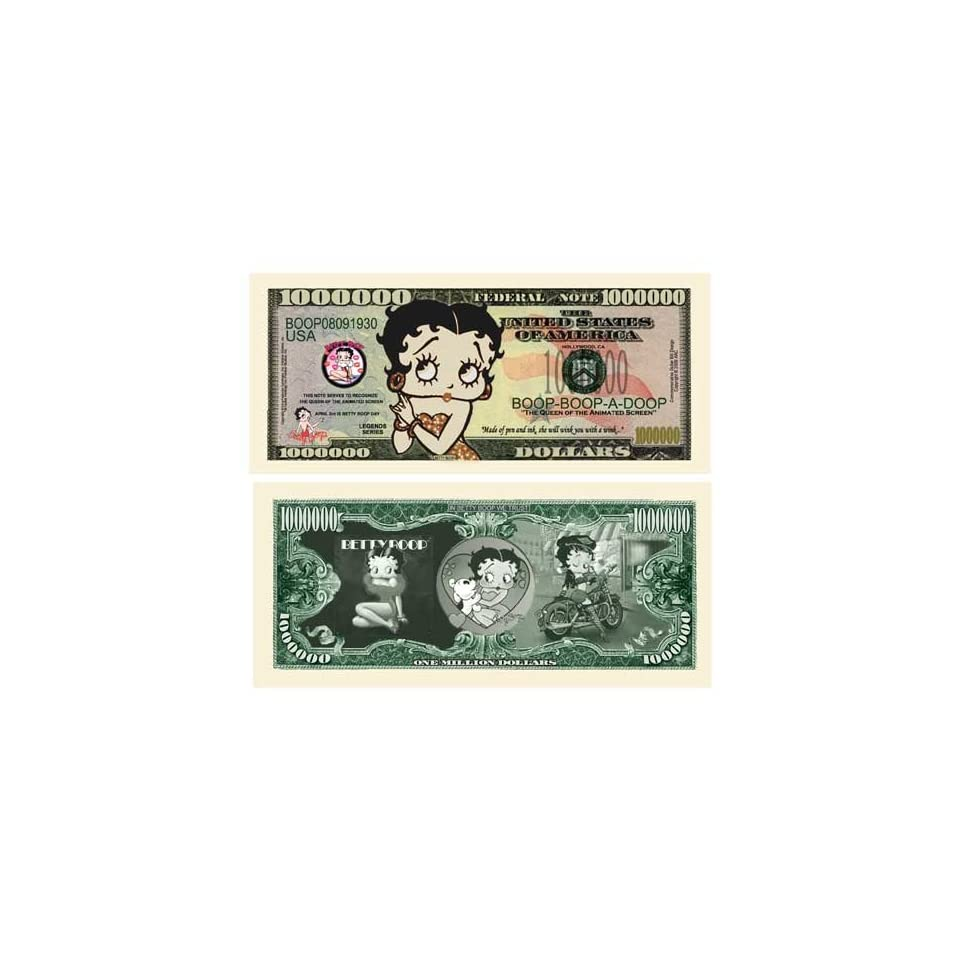 100 Factory Fresh Betty Boop Million Dollar Bills