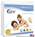 Queen Size Luna Premium Hypoallergenic 100% Waterproof Mattress Protector - Made in the USA - 10 Year Warranty