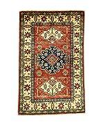 L'EDEN DEL TAPPETO Alfombra Uzebekistan Rojo/Multicolor 80 x 124 cm