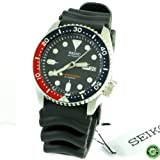 Seiko Divers Automatic Black Dial Black Rubber Mens Watch SKX009J1