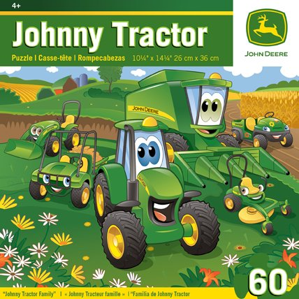 Masterpieces Puzzle Company John Deere Johnny Tractor Family Jigsaw Puzzle (60-Piece) front-336013