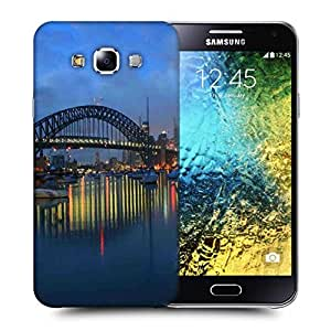Snoogg Colorful Night Printed Protective Phone Back Case Cover ForSamsung Galaxy E5