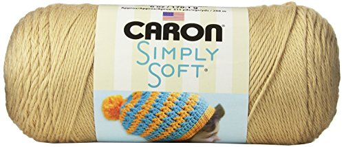 Caron Simply Soft Yarn, 6 Ounces/315 Yards, Bone