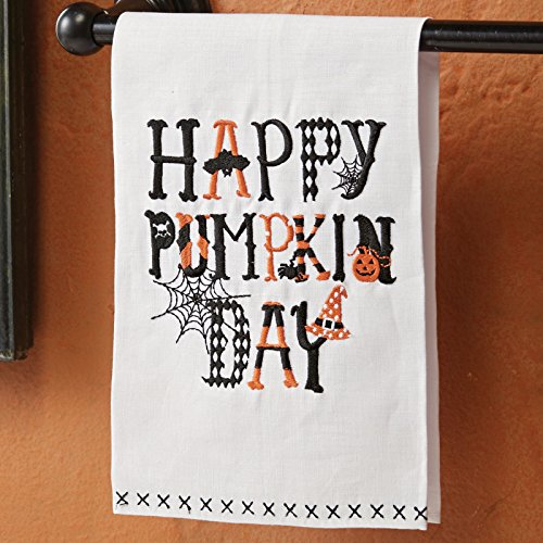[Mud Pie MH6 Halloween Kitchen Decor Happy Pumpkin Day Hand Towel 4405116] (Pi Day Costume Ideas)