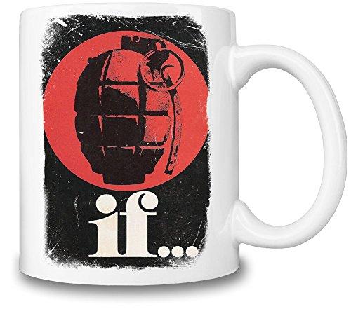 If... Grenade Tazza Coffee Mug Ceramic Coffee Tea Beverage Kitchen Mugs By Slick Stuff