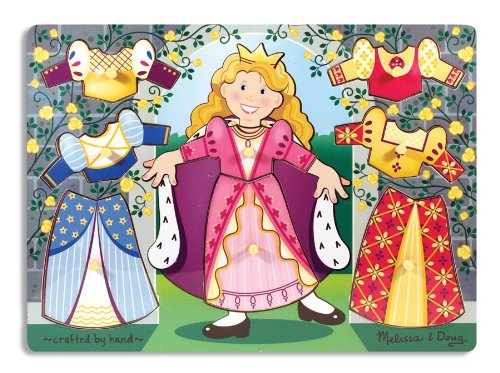 Melissa & Doug Princess Dress-Up Mix 'n Match Peg Puzzle