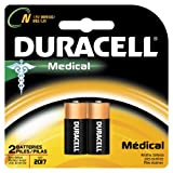 Duracell MN9100B2PK Alkaline Medical Battery, Size N (2 Batteries)
