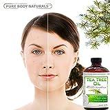 Pure Body Naturals - Tea Tree Essential Oil Pure & Natural 4 Oz Premium Melaleuca Therapeutic Grade From Australia, Use With Soap & Shampoo, Face & Body Wash, Treatment for Acne, Lice & Many Skin Conditions