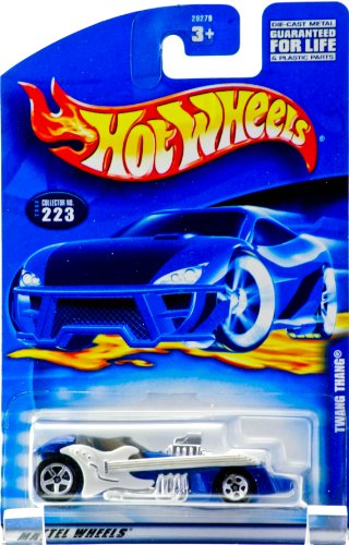 2000 - Mattel - Hot Wheels - Collector #223 - Twang Thang - Metallic Blue - White Guitar Side Panels - Chrome Interior - Larger Rear Wheels - New - Out of Production - Limited Edition - Collectible - 1