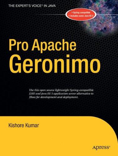 Pro Apache Geronimo: Open Source Lightwave J2EE Container