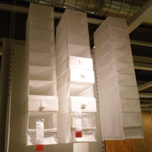 IKEA Skubb Hanging Clothes Closet Storage Shoes Organizer Rack White ...