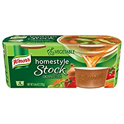 Knorr Homestyle Stock Vegetable Concentrated Broth, Vegetable 4.66 oz, 4 ct