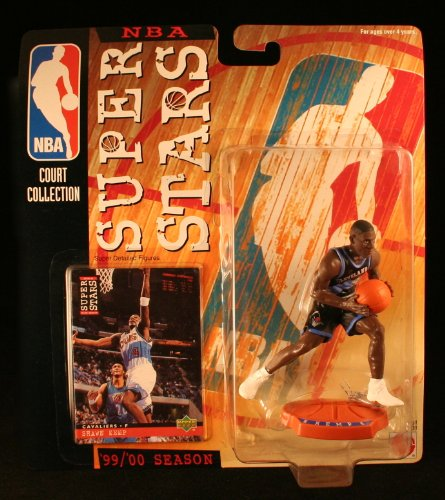 SHAWN KEMP / CLEVELAND CAVALIERS * 99/00 Season * NBA SUPER STARS Super Detailed Figure, Display Base & Exclusive Upper Deck Collector Trading Card