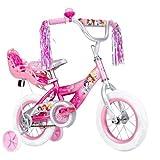 "12"" Huffy Disney Princess Girls' Bike with rear royal doll carrier!"