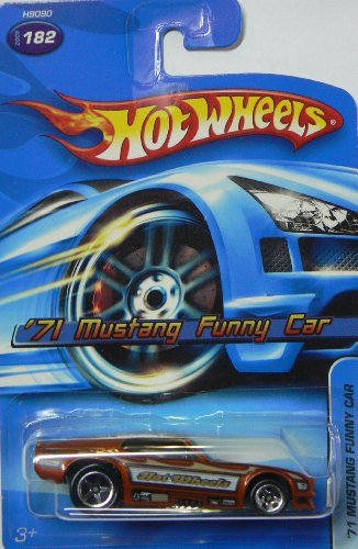 2005 Hot Wheels '71 Mustang Funny Car Dark Orange #182 - 1