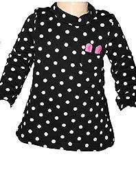 Habooz Girls Wool Sweatshirt (Habooz-W-13-1 -Black And White -0-1 Years)