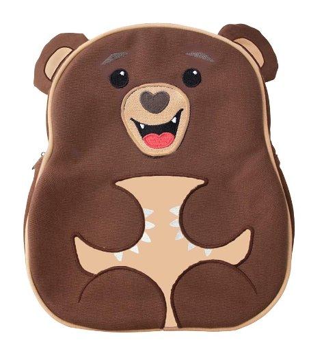 Apple Park Animal Small Preschool Kids Backpack, 100% Recycled PET, in Brown Bear Apple Store Bath